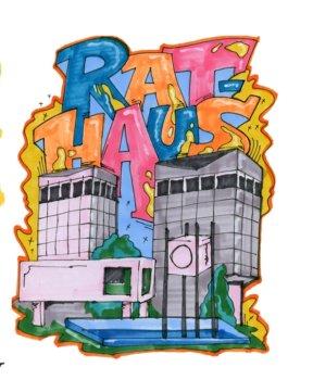 Rathaus-Grafitti