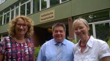 Bürgermeister besucht Katholische Hauptschule