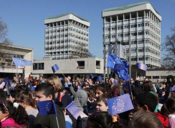 Marl zeigt Flagge für Europa