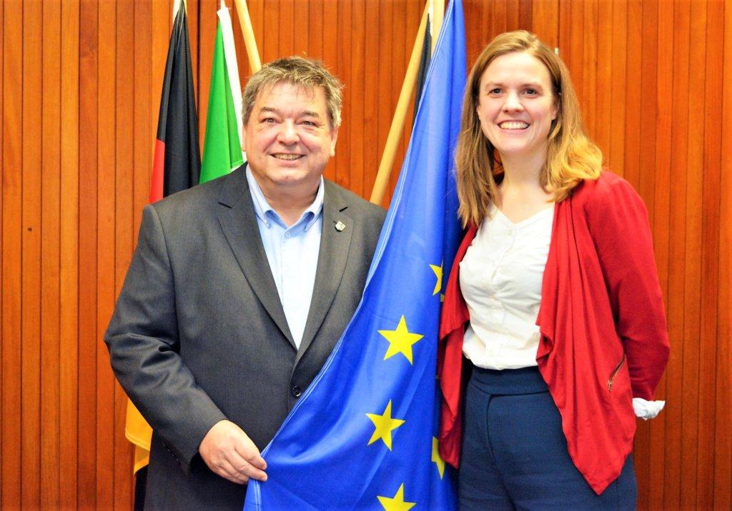 Bürgermeister empfängt Grüne EU-Abgeordnete im Rathaus