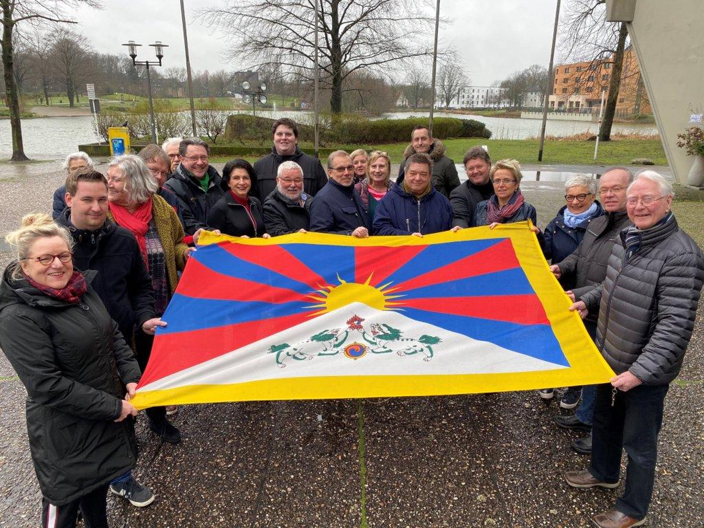 Marl zeigt Solidarität mit Tibet